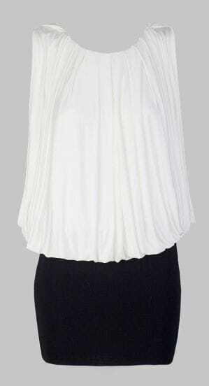 Beige Sleeveless Pleated Bodycon Short Dress