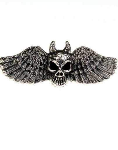 Silver Devil with Wing Style Double Finger Ring