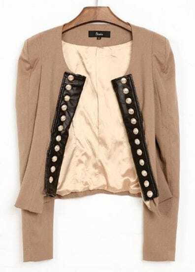 Camel Street Double Breasted Crop Coat