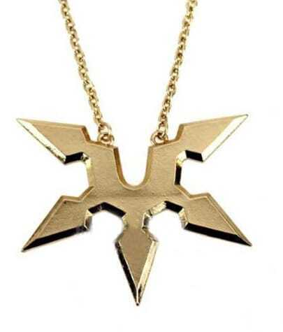 Gold Ninja Dart Long Necklace