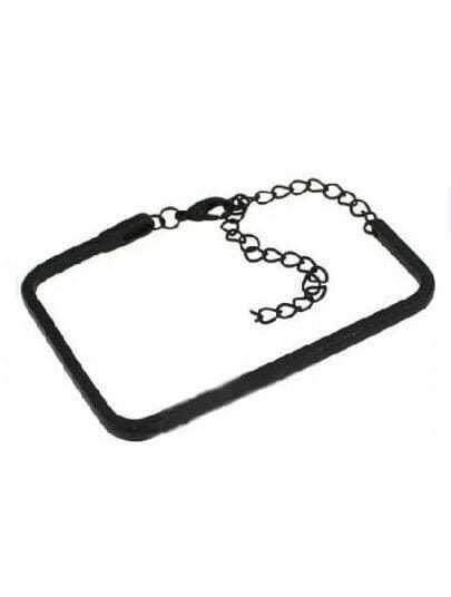 Black Rectangle Chain Bracelet