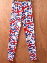 Red Union Jack Print Elastic Waist Legging