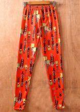 Orange Hermes Print Elastic Waist Legging