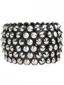 Silver Cone Splice Bangle Bracelet