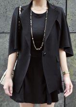Black Notch Lapel Single Button Suit