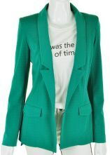 Green Street Asymmetrical Pockets Fitted Suit