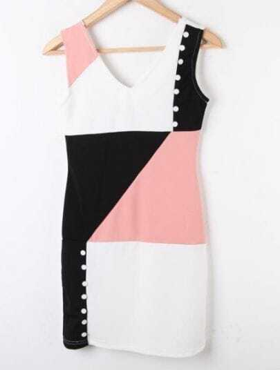 White Hollow High Waist Zipper Polyester Dress