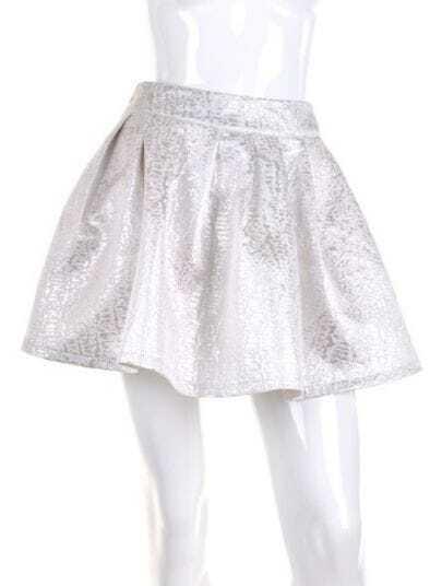 Silver Asymmetrical Bodycon Cotton Tiered