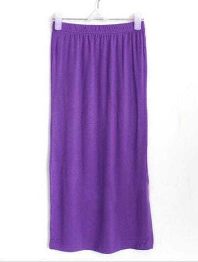 Purple Street Bodycon Modal Split Skirt