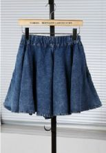 Blue Distressed Pockets Side Denim Skirt Shorts