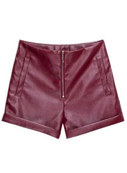Women Faux Leather High Waisted Fitted Shorts Bodycon Ripped Shorts Hot Pants See more like this Moussy Women's Short Shorts Red Plaid Size 2 Low Rise Faux Leather Trim Cuffed Pre-Owned.
