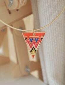 Colorful Triangle Round Necklace