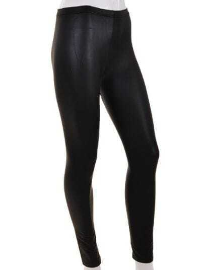 Black Casual Skinny Mesh Yoke Leggings