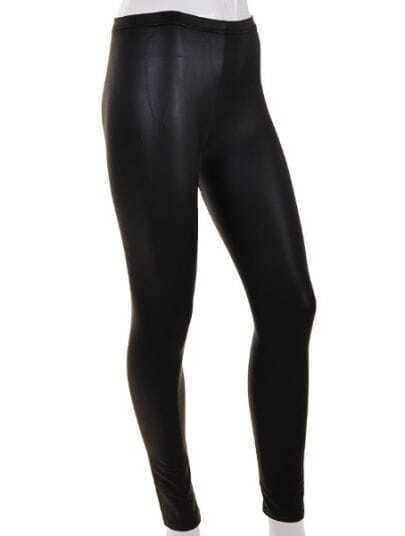Black Casual Skinny Mesh Yoke Leggings