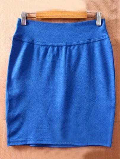 Dark Blue High Waist Bodycon Slim A Line Skirt
