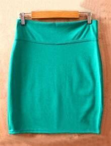 Green High Waist Bodycon Slim A Line Skirt