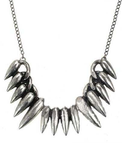 Silver Fangs Chain Necklace