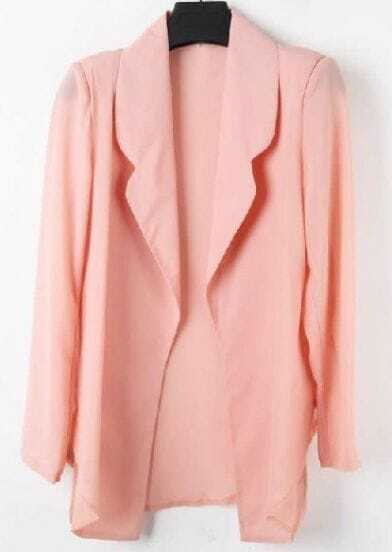 Pink Notch Lapel Fitted Cotton Suit