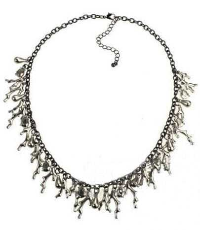 Silver Fashion Coral Chain Necklace