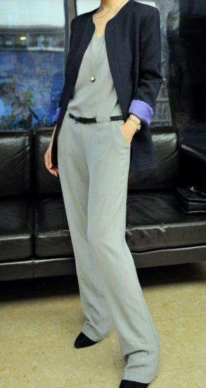 Grey V Neck Half Sleeve Loose Drawstring Waist Jumpsuit