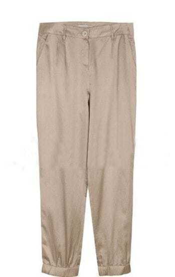 Nude Mid Waist Button Fly Pleated Pant