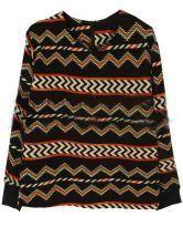 Black Long Sleeve Striped Zipper T-Shirt