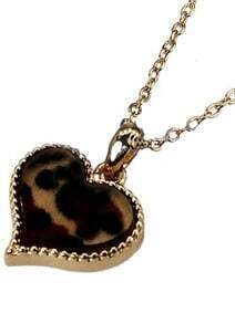 Leopard Heart Gold Chain Necklace