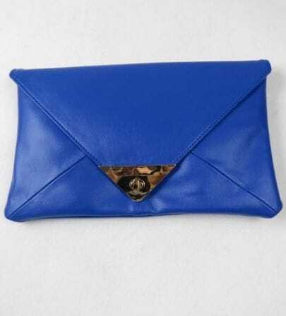 Blue Neon Envelope Clutches