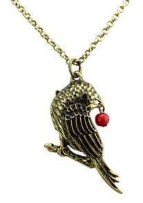 Gold Hawk Chain Necklace