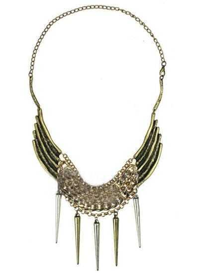 Gold Spike Chain Long Necklace