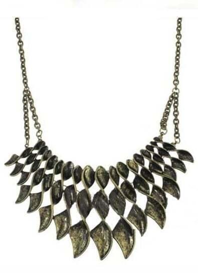 Copper Whorl Chain Necklace