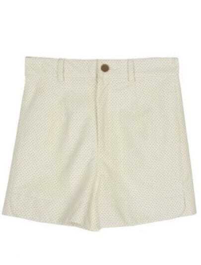 White High Waist Ripped PU Leather Shorts