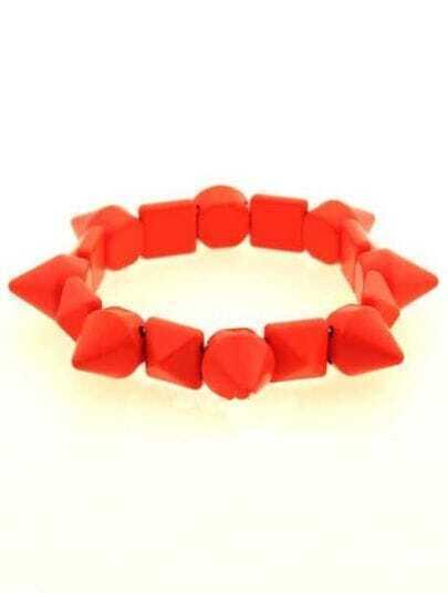 Orange Rivet Geometric Splice Link Bracelet