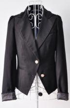 Black Notch Lapel Long Sleeve Epaulet Suit