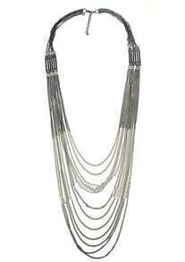 Silver Many Chain Necklace