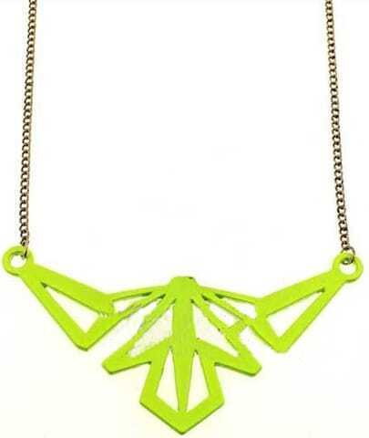 Yellow Mask Gold Chain Necklace
