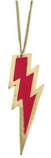 Pink Lightning Gold Long Necklace
