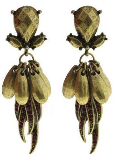 Gold Food Stud Earrings