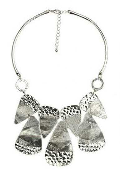 Silver Sequined Splice Necklace
