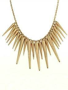 Gold Spike Chain Necklace