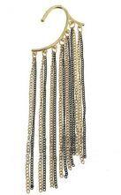 Black Gold Chain Tassel Dangle Earrings