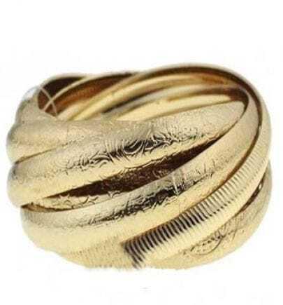 Gold Multiple Twining Bangle Bracelet