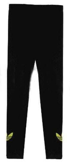 Black Skinny Elasic Mid Waist Leggings