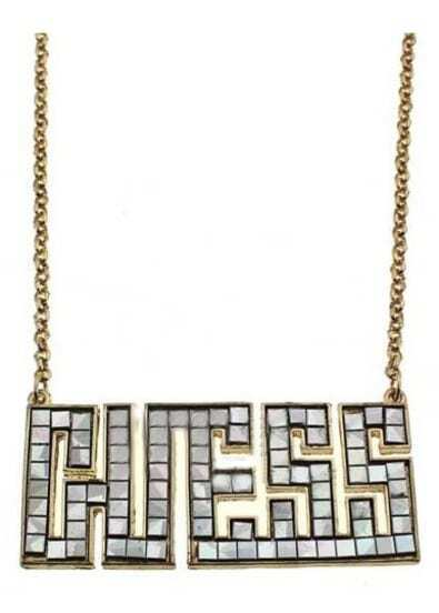 White GUESS Chain Necklace