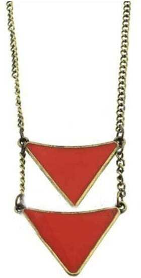 Orange Triangle Necklace
