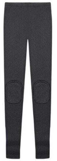 Dark Grey Elasic Knee Patch Leggings