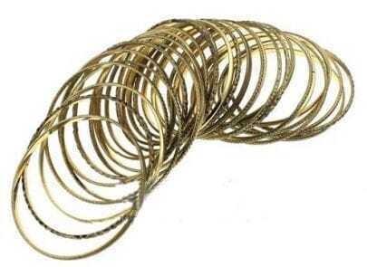 Gold Multilayer Bangle Bracelet
