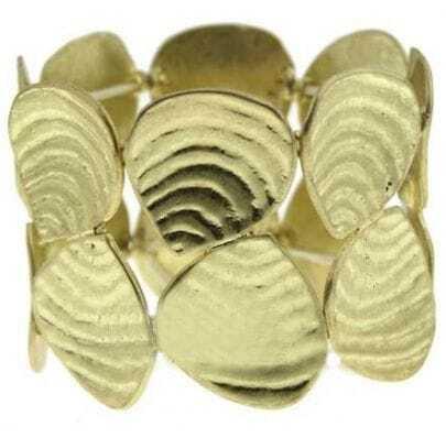 Gold Shell Splice Bangle Bracelet