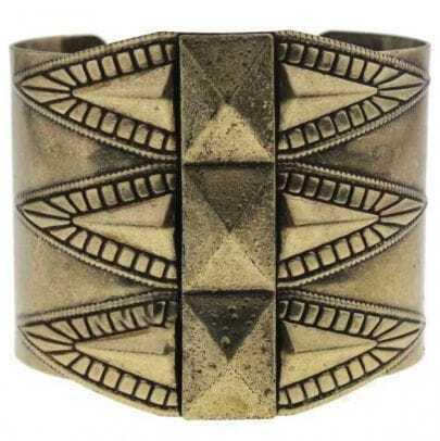 Gold Crochet Cuff Bracelet