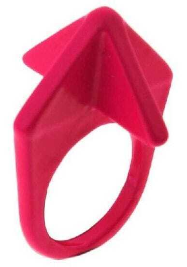 Red Fluorescence Geometric Ring